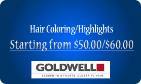 Hair Coloring/Highlights from $40.00/$25.00
